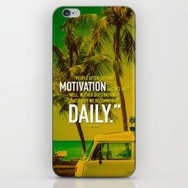 Typographic Quote Design  [Zig Ziglar] iPhone Skin