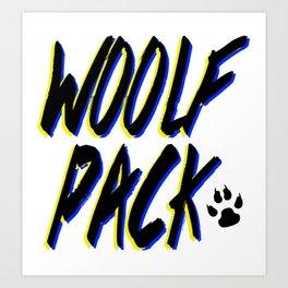 WOOLFPACK Art Print