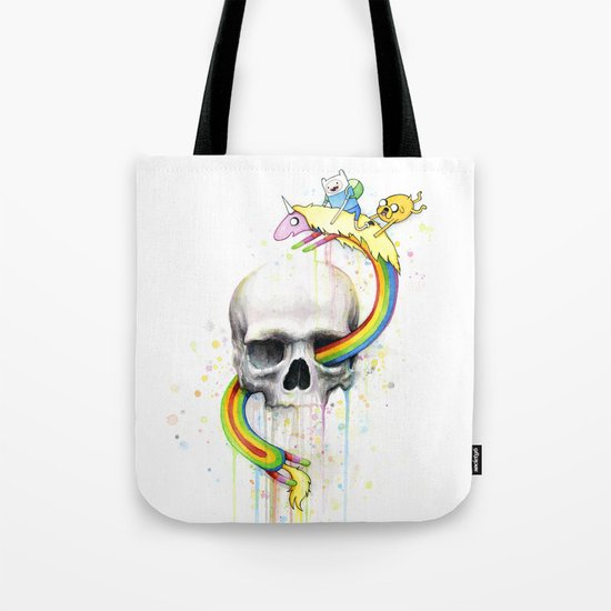Adventure through Time and Face Tote Bag