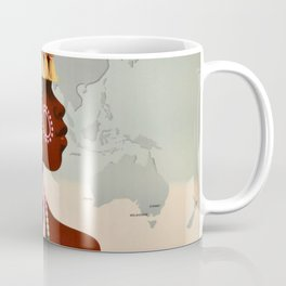 South Africa, Qantas - Vintage  Poster Coffee Mug