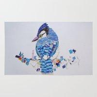 jay fleck Area & Throw Rugs featuring Blue Jay by Ruud van Koningsbrugge