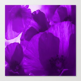 Ultra Violet Poppies #decor #society6 #buyart Canvas Print