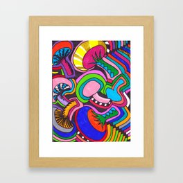 TRIPpin MUSHrooms II Framed Art Print