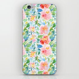 Busy Watercolour Floral iPhone Skin