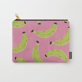 Bananas (Pink & Green) Carry-All Pouch