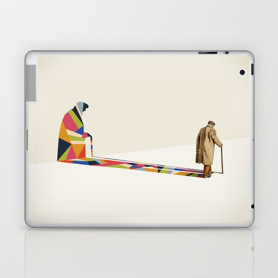 Walking Shadow, Old Man Laptop & iPad Skin