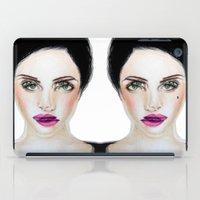 glitch iPad Cases featuring Glitch by Hiba Khan Art