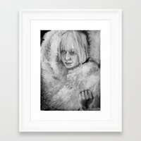 amy sia Framed Art Prints featuring Sia by JenHoney