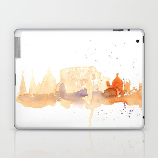 Watercolor landscape illustration_Rome - Colosseum Laptop & iPad Skin
