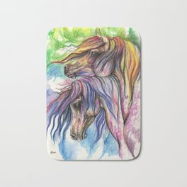 Rainbow Horses Bath Mat