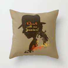 Don't call me Junior! – Indiana Jones Silhouette Quote Throw Pillow
