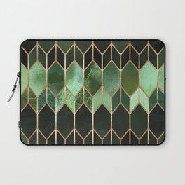 Stained Glass 5 - Forest Green Laptop Sleeve
