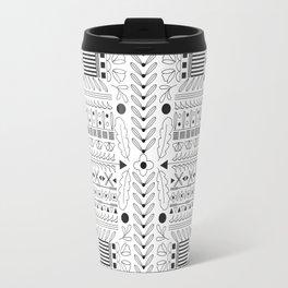Bohemian Folk Floral Grid Travel Mug