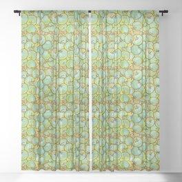 Green Apples Sheer Curtain