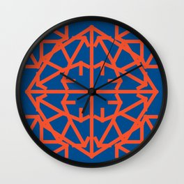 Diamond Bug - Flame and Lapis Blue Wall Clock