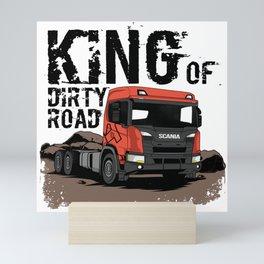 Dump Truck Dirty Road Mini Art Print
