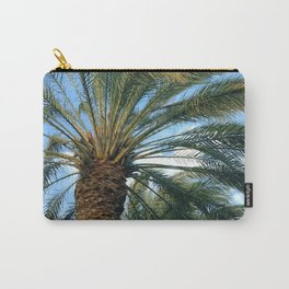 Palm Trees Upshot In Tropical Turquoise Sky Carry-All Pouch