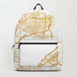 CLEVELAND OHIO CITY STREET MAP ART Backpack