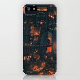 Breathtaking Future Cityscape Skyline Menacing Glow Cartoon Scenery Ultra High Resolution iPhone Case