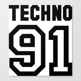TECHNO Canvas Print