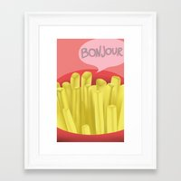 french fries Framed Art Prints featuring French Fries by Elisehill3