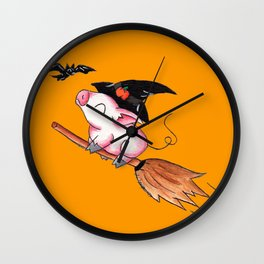 Pigs Fly in Salem Wall Clock