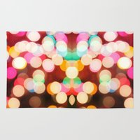 bokeh Area & Throw Rugs featuring Bokeh by Christine VanFonda