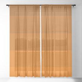 Orange Brown Stripes Sheer Curtain