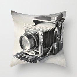 Grafflex Camera Tintype Throw Pillow