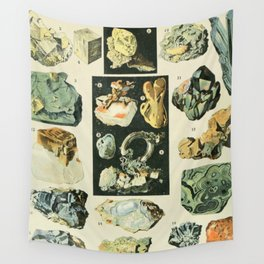 Vintage Minerals Chart Wall Tapestry