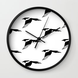 Pica Pica (magpie) many Galery Giftshop Wall Clock