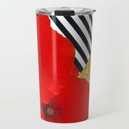 Poppies and Gold! Travel Mug