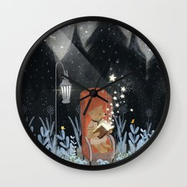 the little book of stars Wall Clock