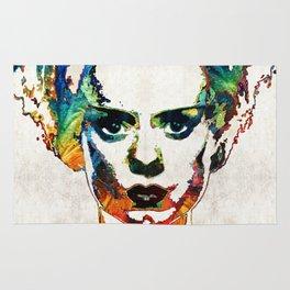 Frankenstein Bride Art - Colorful Monster Bride - By Sharon Cummings Rug