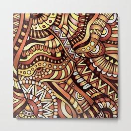 Boho Carnivale Pattern 1 Metal Print