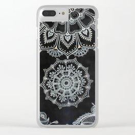 Modern Mandala Clear iPhone Case