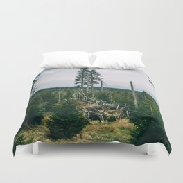 Evergreen Mountain Forest Duvet Cover