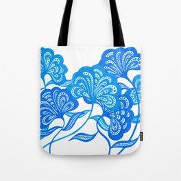 Blue Bloom Tote Bag