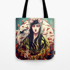 Goldfish geisha Tote Bag