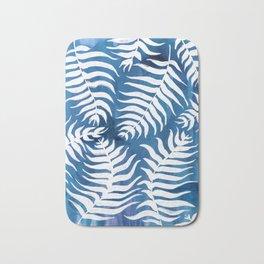 Caribean Blue Palms Bath Mat