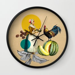 Coffee Quote Print Wall Clock