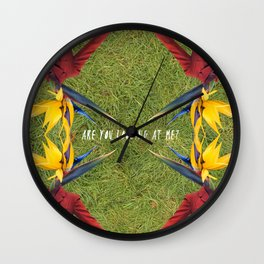 Are you looking at me? Wall Clock