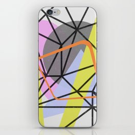 Tangled Retro - Abstract, Mid Century, Pastel Design iPhone Skin
