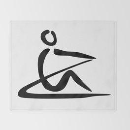Rowing Logo 1 Throw Blanket
