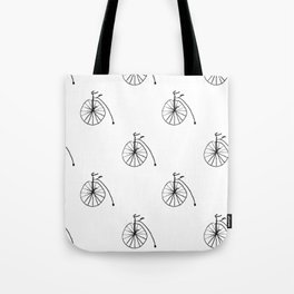 penny-farthing, high wheel, high wheeler, ordinary bicycle Tote Bag