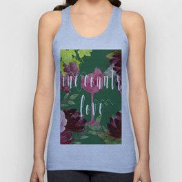 Wine Country Love Unisex Tank Top