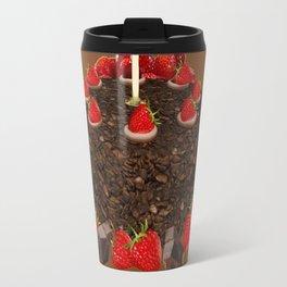 CHOCOLATE & STRAWBERRIES  BIRTHDAY CAKE Travel Mug