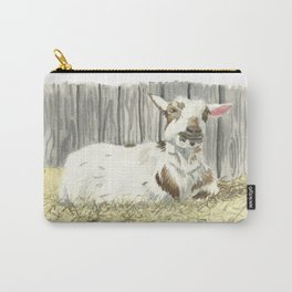 Goat in the Sunshine - Watercolor Carry-All Pouch