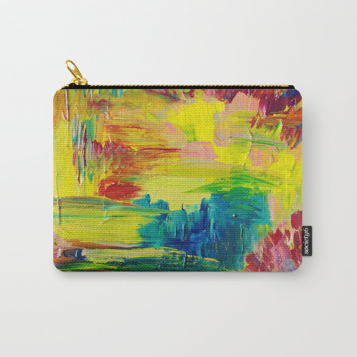 GOING THROUGH THE MOTIONS -  Stunning Saturated Bold Colors Modern Nature Abstract Carry-All Pouch