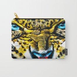 Leopard Roar Digital Painting Carry-All Pouch